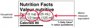 How to read nutrition facts on packaging
