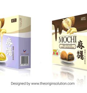 Mochi Durian Chocolate Frozen Food