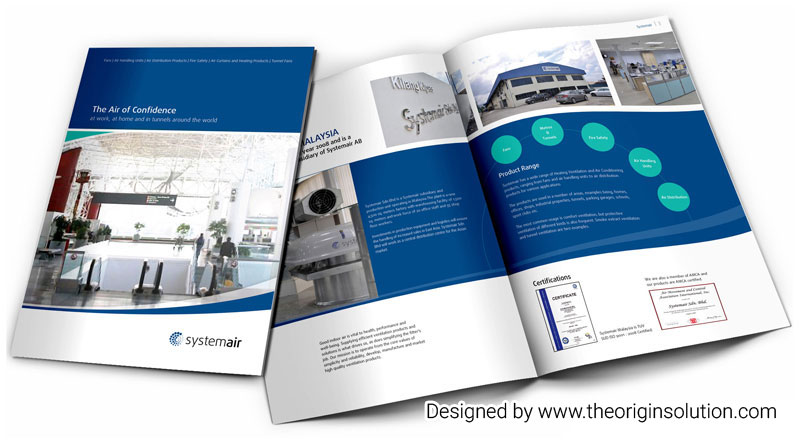 The Air of Confidence Company Profile Design